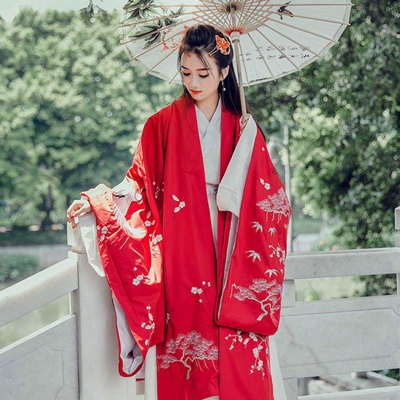 Hanfu Dress Women Chinese Traditional dress ruqun wiki history vs Kimono Hanbok newhanfu