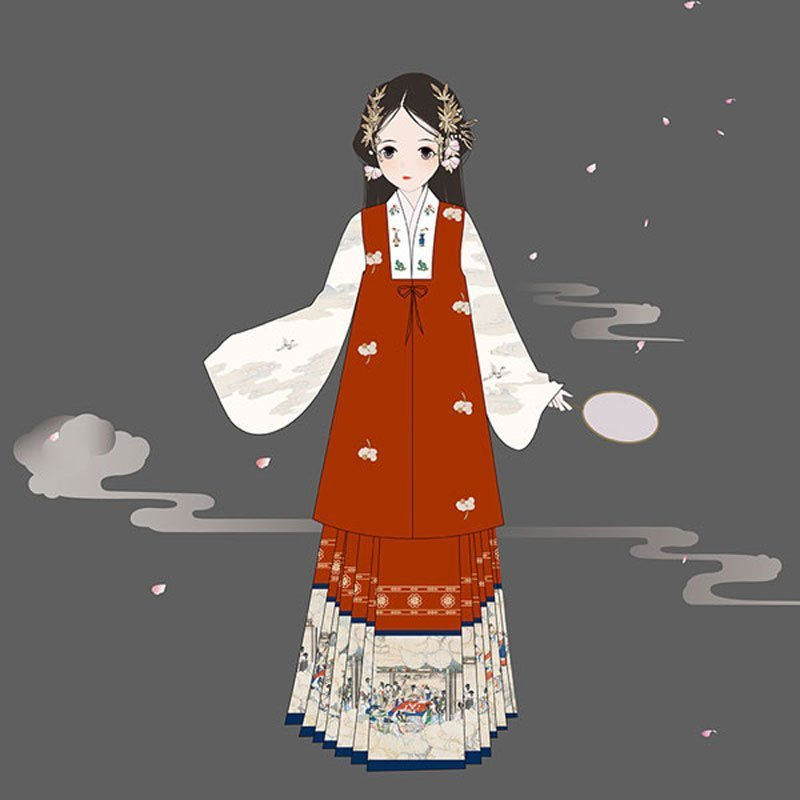 hanfu-chinese-traditional-girl-dress--classic-bijia-vest-newhanfu
