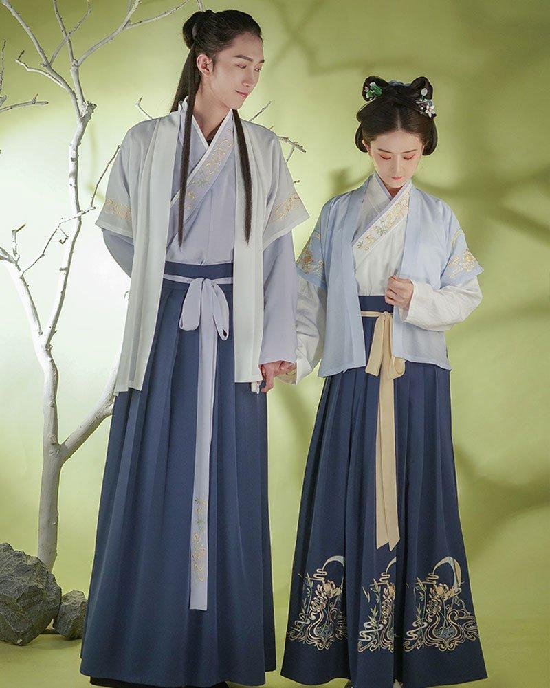 2019 Latest Sweet Couples Hanfu Costume