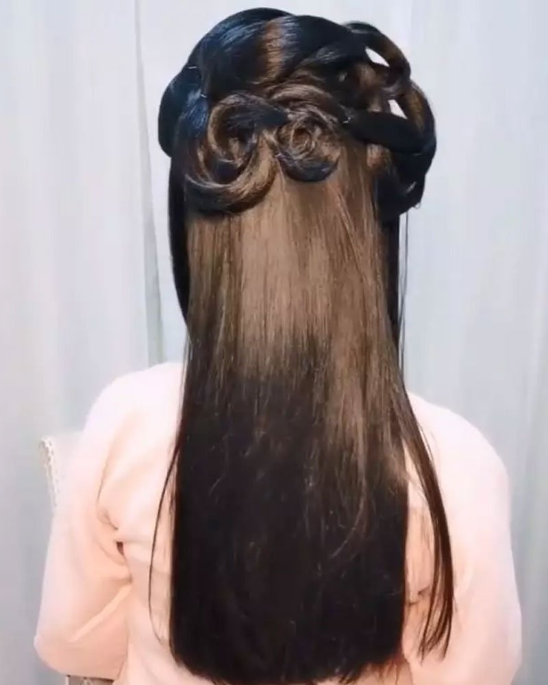 Simple Beautiful Hanfu Hairstyle for You- (2)