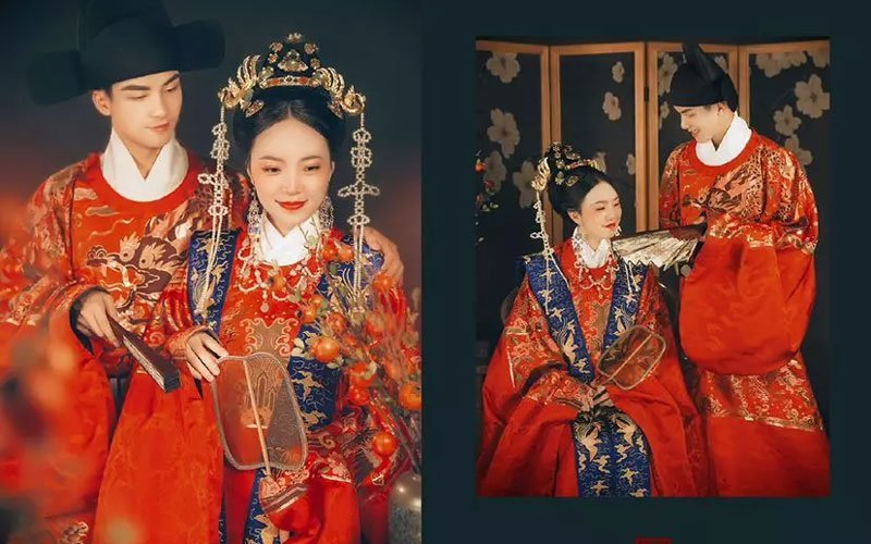 Sweet Record of Traditional Wedding in Hanfu