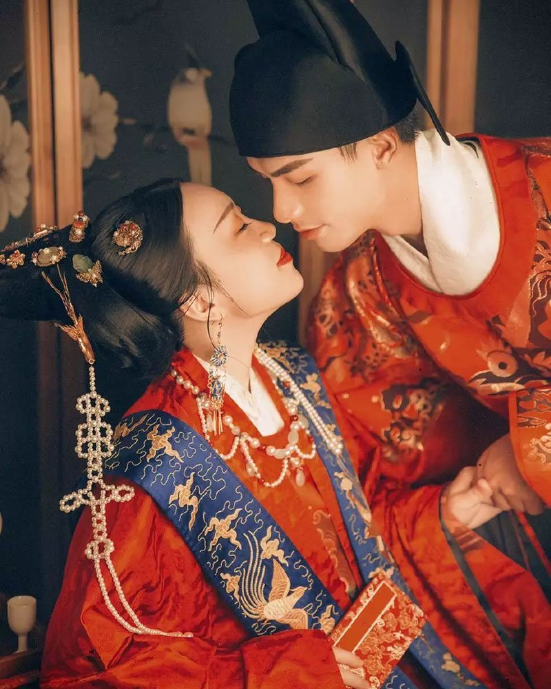 Sweet Record of Traditional Wedding in Hanfu photos