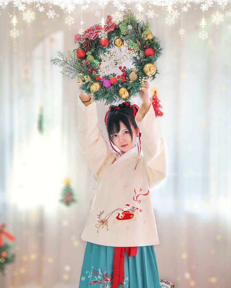 Christmas Element Hanfu - The Best Gift for Winter
