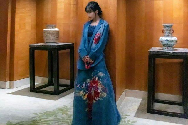 Li Ziqi wear hanfu dress