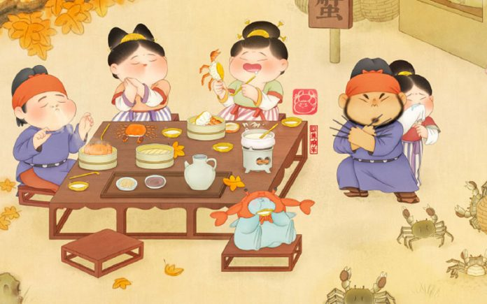 The Modern Illustration Meets the Traditional Chinese Clothing