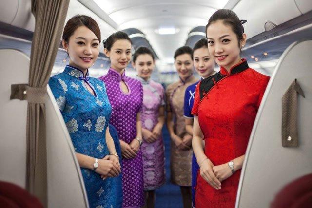 stewardess wear qipao uniform