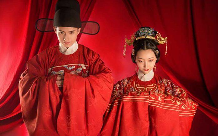 traditional chinese wedding dress ming dynasty style newhanfu