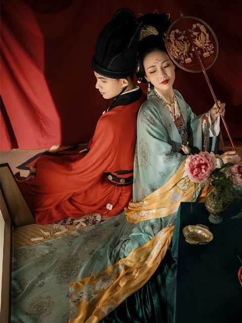 traditional chinese wedding dress tang dynasty style newhanfu