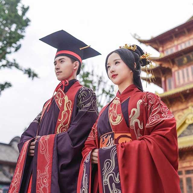 traditional chinese wedding dress zhou dynasty style newhanfu