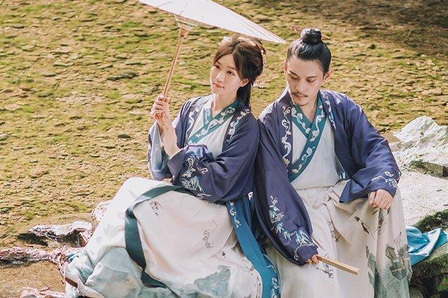 Chinese long dress male