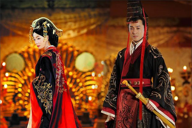 Han dynasty clothing dark color