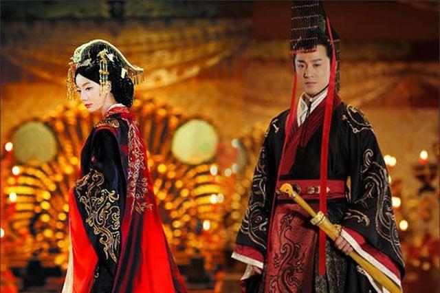 Han dynasty clothing dark color