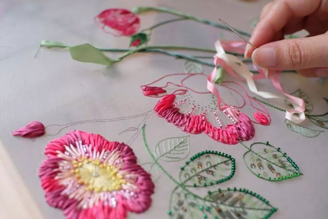 Tang Dynasty clothing embroidery