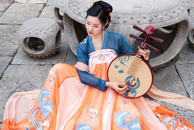 tang dynasty ruqun hanfu clothing