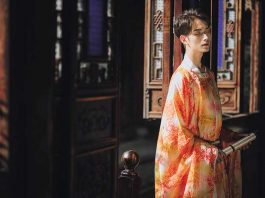 male traditional chinese clothing round collar robe