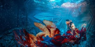 Fancy Hanfu Photography Underwater
