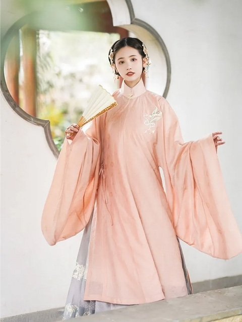 Chinese Dress for Girl - Ming Stand Collar Hanfu Shirt