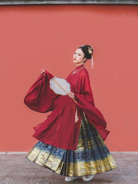 Chinese Dress for Girl - Ming Stand Collar Hanfu Shirt