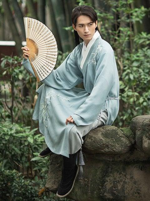 Chinese Man Costume Ming Style Hanfu Jacket - Zhiduo