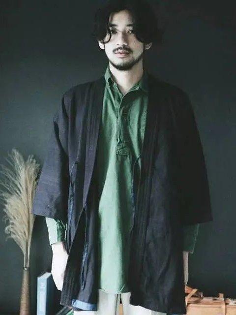 Chinese Man Costume | Ming Style Hanfu: Taoist Robe - Daopao