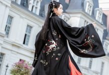 Hanfu Sewing Pattern (1) - Pifeng Cutting Diagram & Making