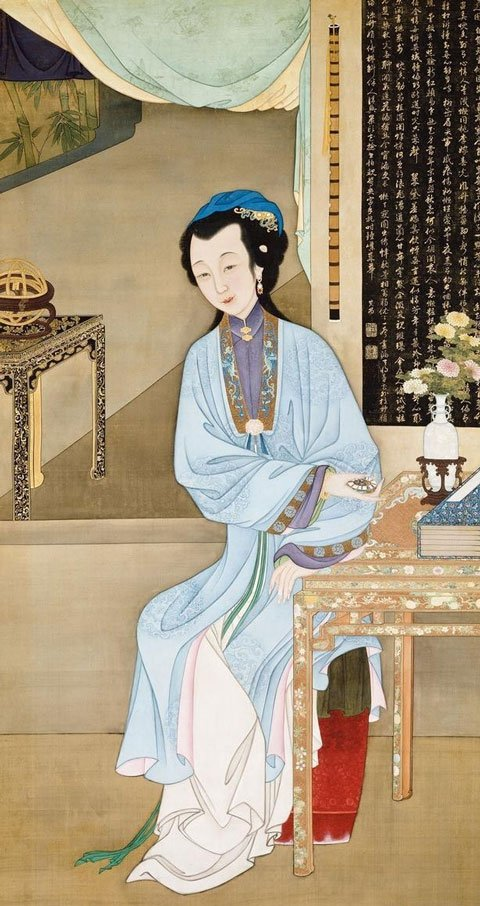 Hanfu Drawing - Twelve Beauties of the Qing Dynasty