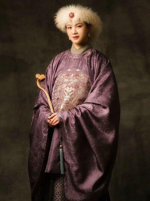 Chinese Dress for Girls - Ming Style Round Collar Hanfu