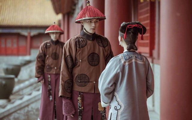 Ancient Chinese Headdress Qing Dynasty Bian Fang