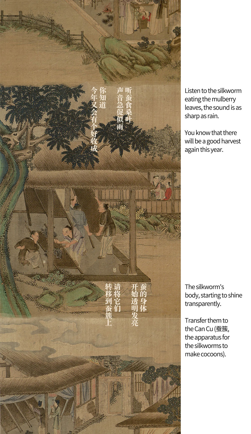 A Long Painting about Chinese Silk Production