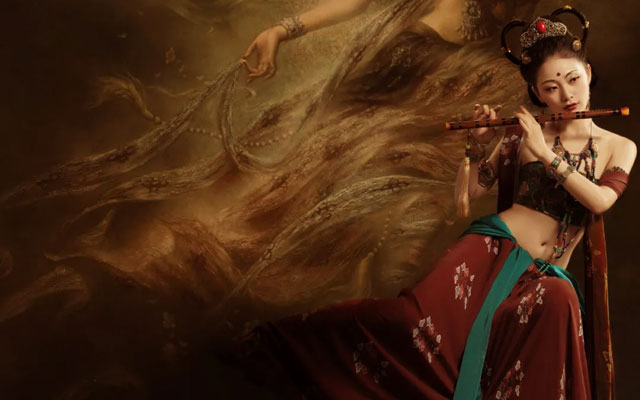 Mythology Legends 95s Girl Recreating the Original Shan Hai Jing