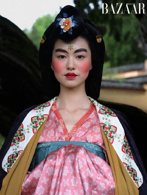 Supermodel Hanfu Cover Photo in Harper's BAZAAR