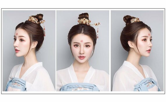 Simple Beautiful Hanfu Hairstyle for Boys&Girls