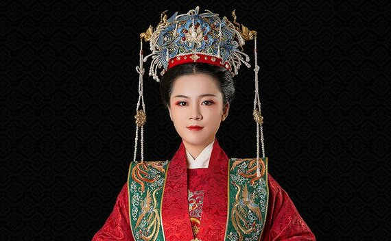 The Most Luxury Ancient Female Chinese Wedding Dress