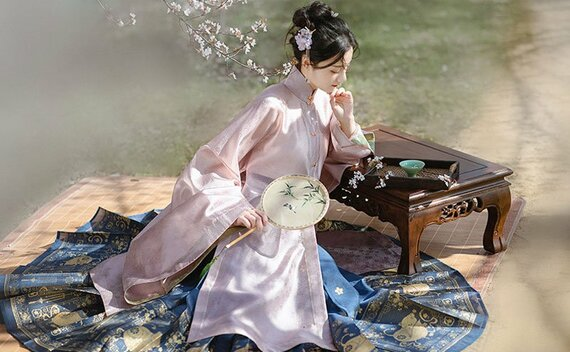 Nice Ming-style Chinese Dress for Girls (Summer)