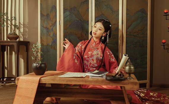 Chinese Dress for Girl – Ming Stand Collar Hanfu Shirt