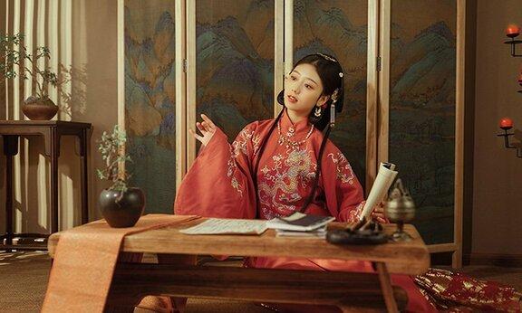 Chinese Dress for Girl – Ming Stand Collar Hanfu Shirt