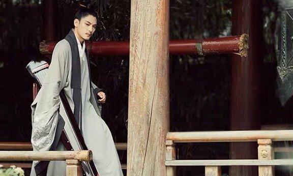 Chinese Man Costume   Ming Style Hanfu: Taoist Robe – Daopao