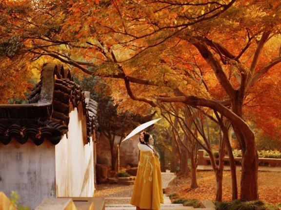 Chinese Costume Photography – Hanfu Girl in Autumn