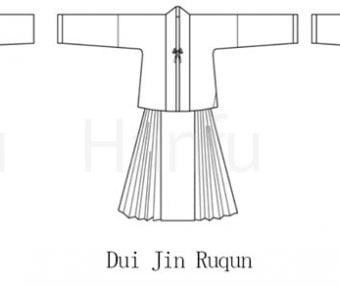 Hanfu Making(3) – Ruqun Cutting & Sewing Patterns