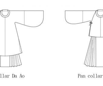 Hanfu Making(5) – Pan Collar Aoqun Cutting & Sewing Patterns