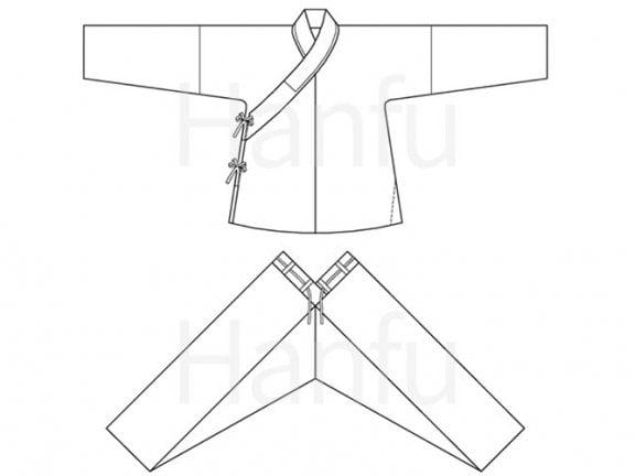 Hanfu Making(8) – Shuhe Cutting & Sewing Patterns